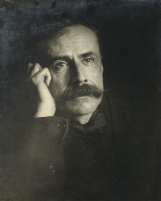 Sir Edward Elgar, Bt, by Charles Frederick Grindrod, circa 1903 - NPG x11894 - © National Portrait Gallery, London