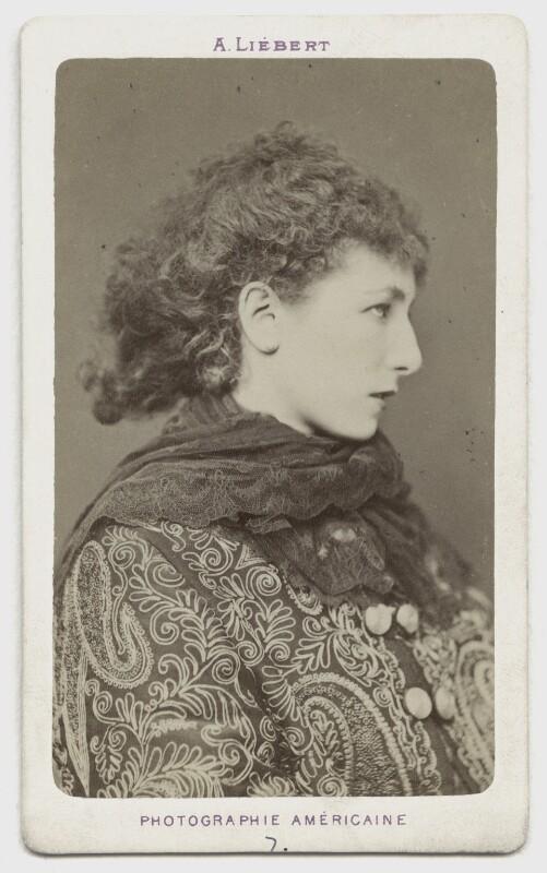 Sarah Bernhardt, by Alphonse J. Liébert (Liibert), circa 1878 - NPG x1190 - © National Portrait Gallery, London