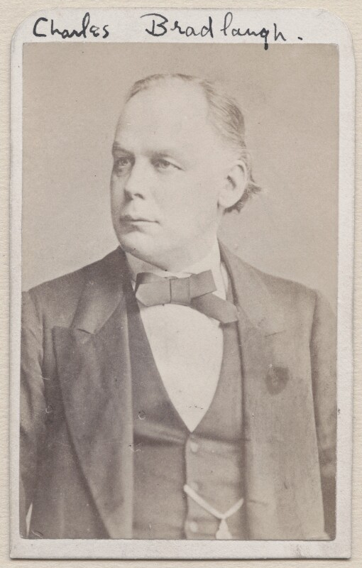Charles Bradlaugh, by Unknown photographer, 1860s-1870s - NPG x1212 - © National Portrait Gallery, London