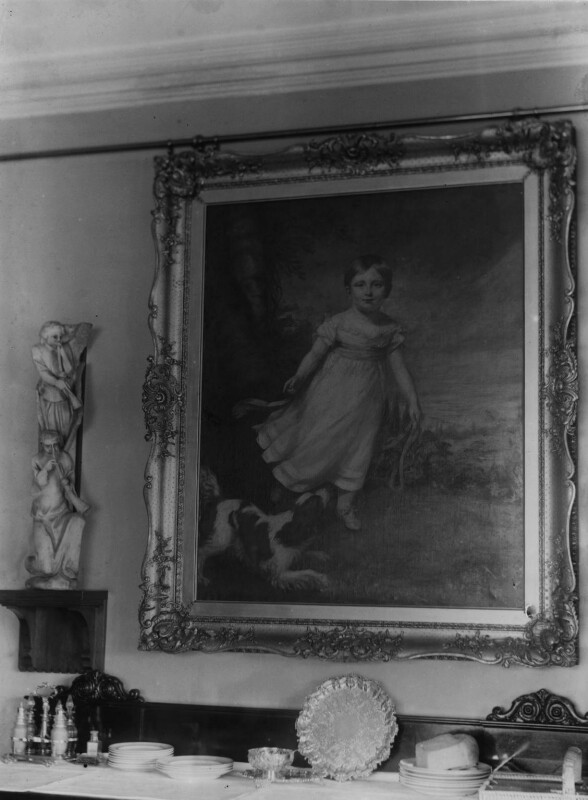 View of James Northcote's painting of John Ruskin in John Ruskin's home, by John McClelland, 1890s - NPG x12197 - © National Portrait Gallery, London