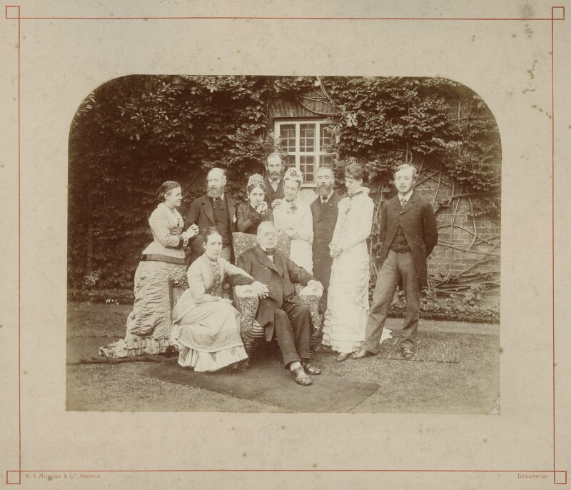 Sir George Biddell Airy with nine family members, by William Thomas Morgan & Co, 1891 - NPG x1222 - © National Portrait Gallery, London