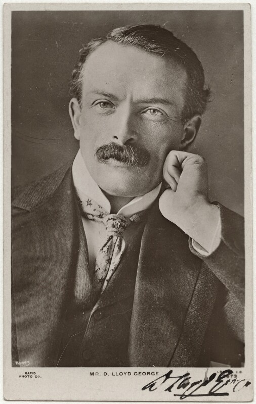 David Lloyd George, by Reginald Haines, published by  Rapid Photo Co, 1900s - NPG x12477 - © National Portrait Gallery, London