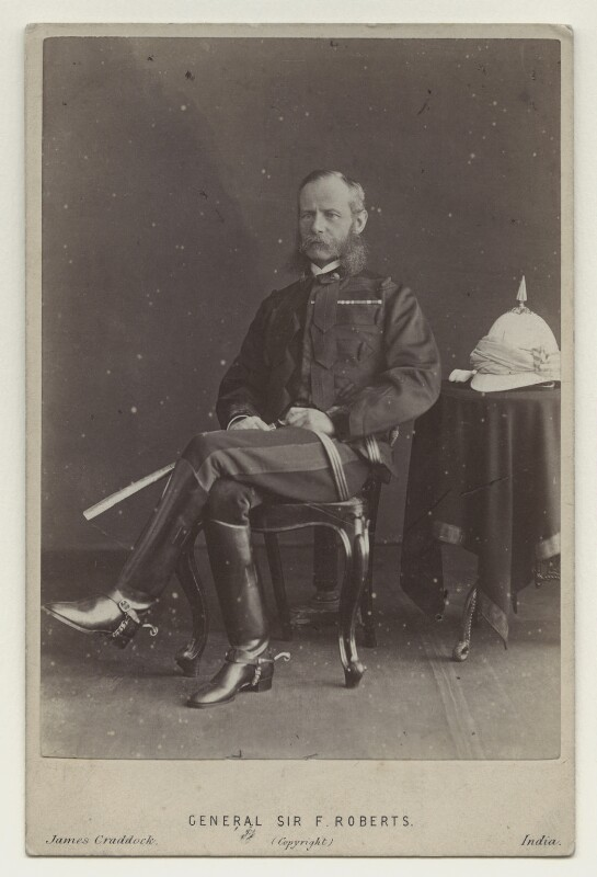 Frederick Sleigh Roberts, 1st Earl Roberts, by James Craddock, 1870s - NPG x12481 - © National Portrait Gallery, London