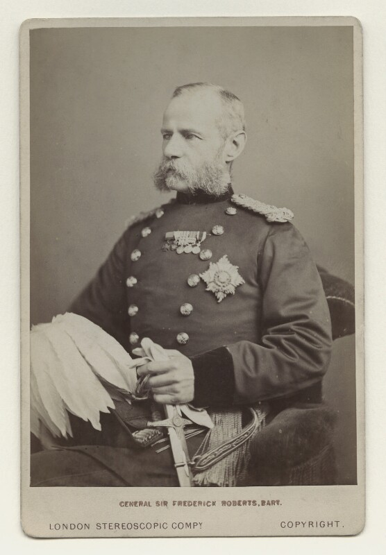 Frederick Sleigh Roberts, 1st Earl Roberts, by London Stereoscopic & Photographic Company,  - NPG x12482 - © National Portrait Gallery, London