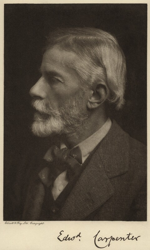 Edward Carpenter, by Elliott & Fry, 1900s - NPG x12530 - © National Portrait Gallery, London
