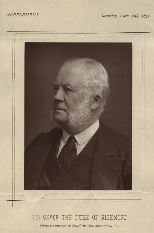 Charles Henry Gordon-Lennox, 6th Duke of Richmond, 6th Duke of Lennox and 1st Duke of Gordon, by James Russell & Sons, published 25 April 1891 - NPG x12806 - © National Portrait Gallery, London