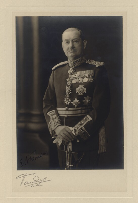 Sir Edwin Henry de Vere Atkinson, by Vandyk, before 1936 - NPG x129 - © National Portrait Gallery, London