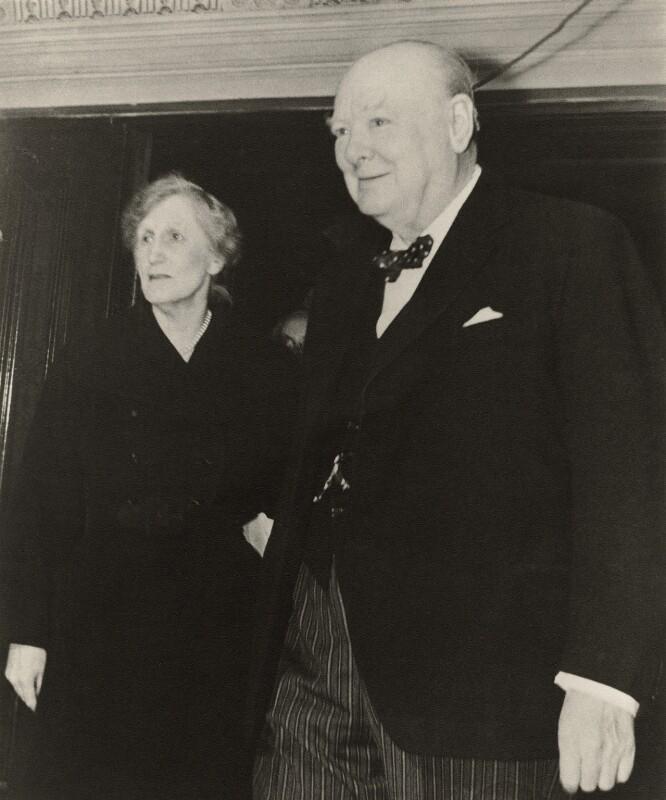 (Helen) Violet Bonham Carter (née Asquith), Baroness Asquith of Yarnbury; Winston Churchill, by Sefton Samuels, October 1951 - NPG x129511 - © Sefton Samuels / National Portrait Gallery, London