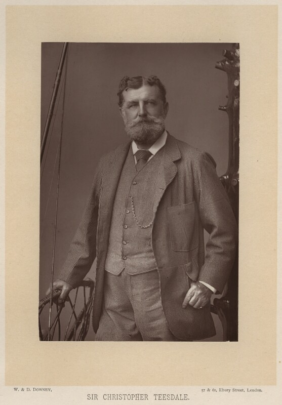Sir Christopher Charles Teesdale, by W. & D. Downey, published by  Cassell & Company, Ltd, published 1891 - NPG x13218 - © National Portrait Gallery, London