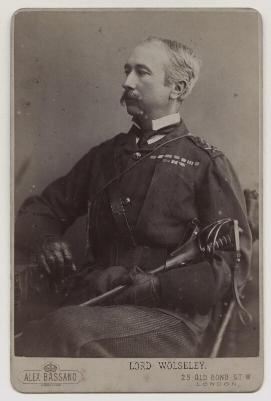 Garnet Joseph Wolseley, 1st Viscount Wolseley, by Alexander Bassano, 1880s - NPG x13315 - © National Portrait Gallery, London