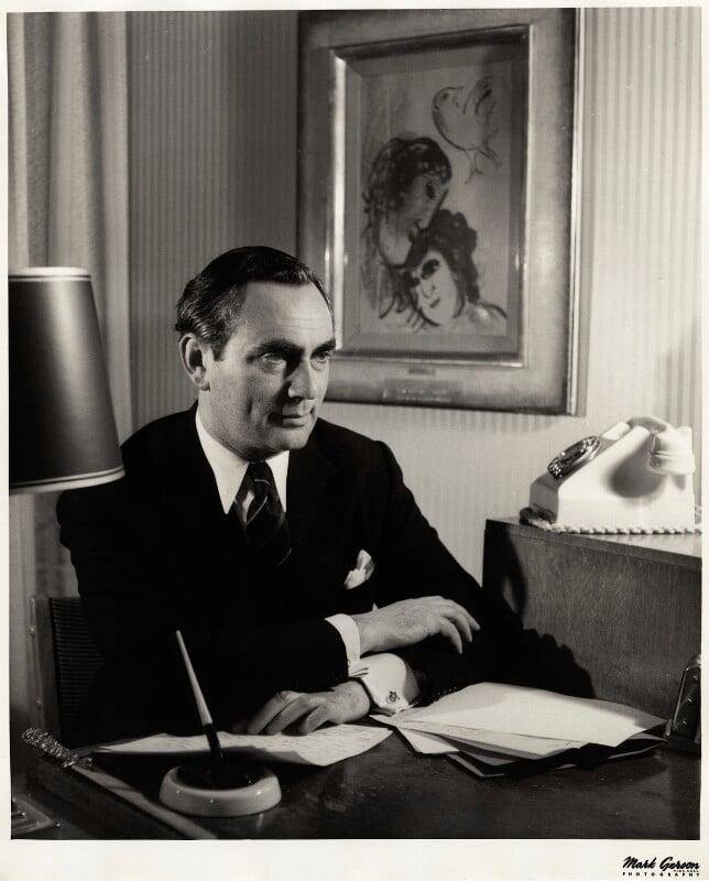 (Israel) Maurice Edelman, by Mark Gerson, September 1959 - NPG x13365 - © Mark Gerson / National Portrait Gallery, London
