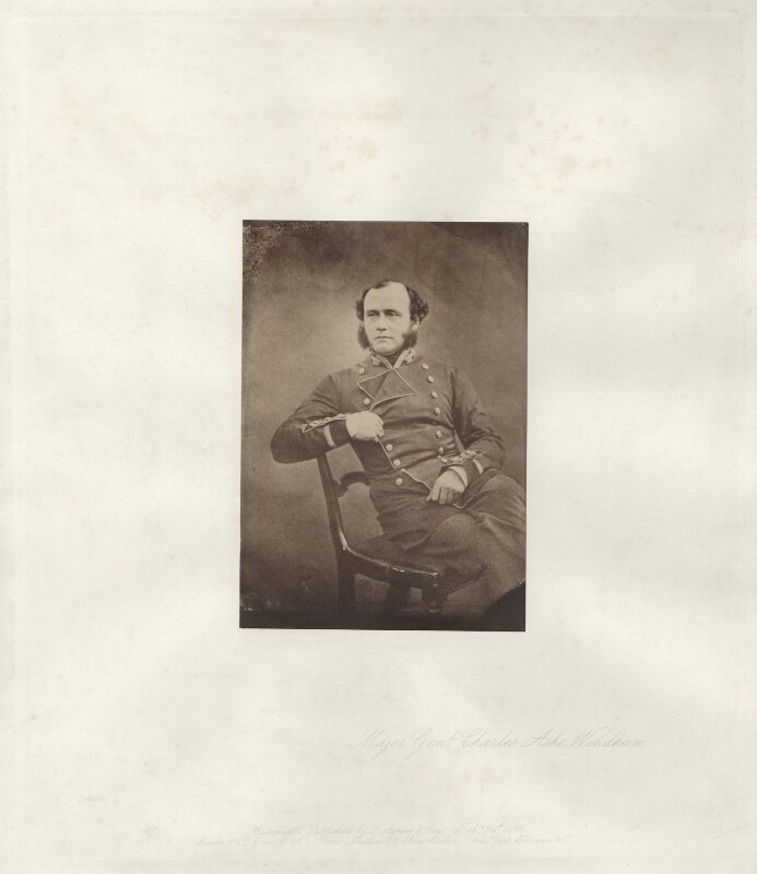 Sir Charles Ash Windham, by Roger Fenton, published by  Thomas Agnew & Sons Ltd, 1855, published 19 February 1856 - NPG x13454 - © National Portrait Gallery, London