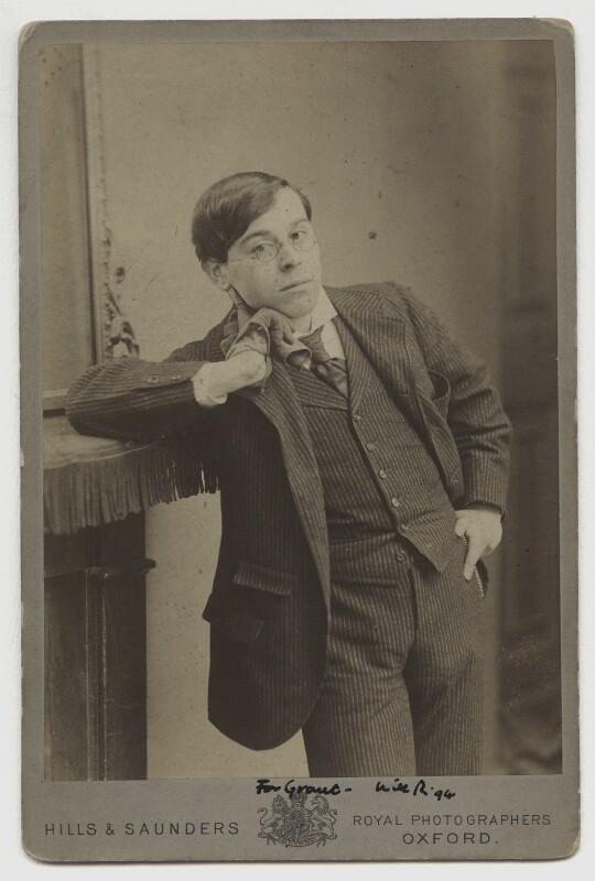 William Rothenstein, by Hills & Saunders, circa 1894 - NPG x13491 - © National Portrait Gallery, London