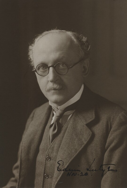Sir Edwin Lutyens, by Unknown photographer, circa 1920 - NPG x14274 - © National Portrait Gallery, London