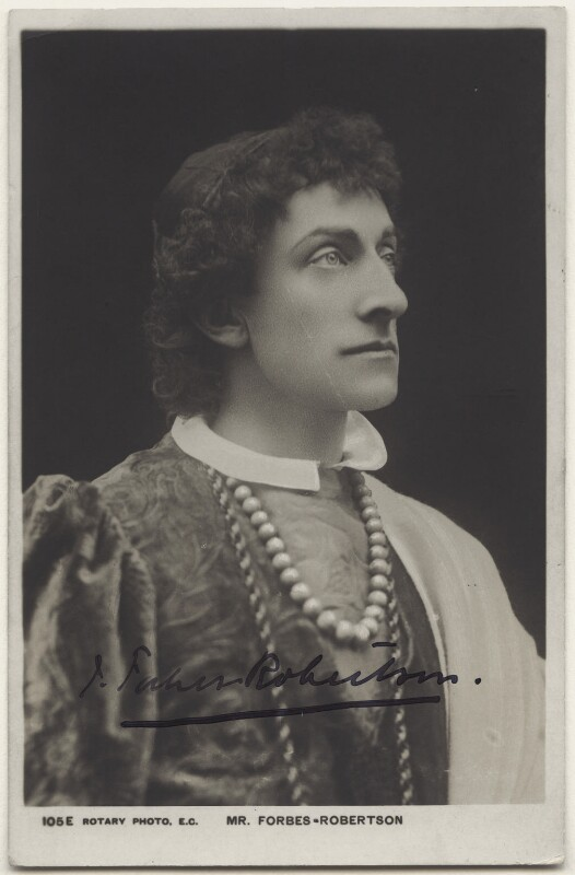 Sir Johnston Forbes-Robertson as Romeo in 'Romeo & Juliet', by Hayman Seleg Mendelssohn, published by  Rotary Photographic Co Ltd, published 1900s (1895) - NPG x14283 - © National Portrait Gallery, London