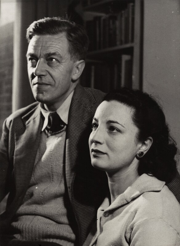 Cecil Day-Lewis; Jill Angela Henriette Balcon, by Mark Gerson, 1953 - NPG x14350 - © Mark Gerson / National Portrait Gallery, London