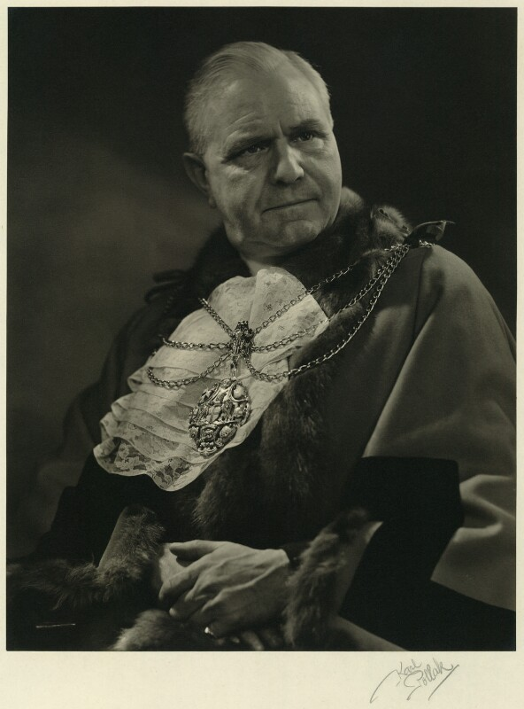 Sir George Aylwen, 1st Bt, by Karl Pollak, circa 1948 - NPG x14999 - © reserved; collection National Portrait Gallery, London