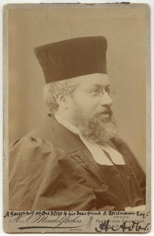 Hermann Adler, by Hayman Seleg Mendelssohn, 1886-1889 - NPG x15 - © National Portrait Gallery, London