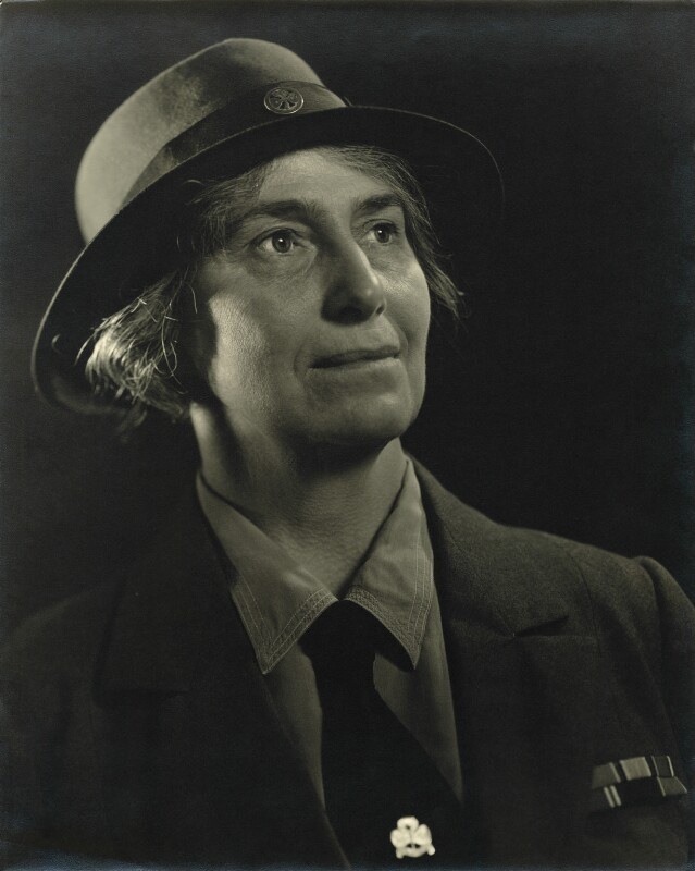 Olave St Clair Baden-Powell (née Soames), Lady Baden-Powell, by Karl Pollak, circa 1948 - NPG x15000 - © reserved; collection National Portrait Gallery, London