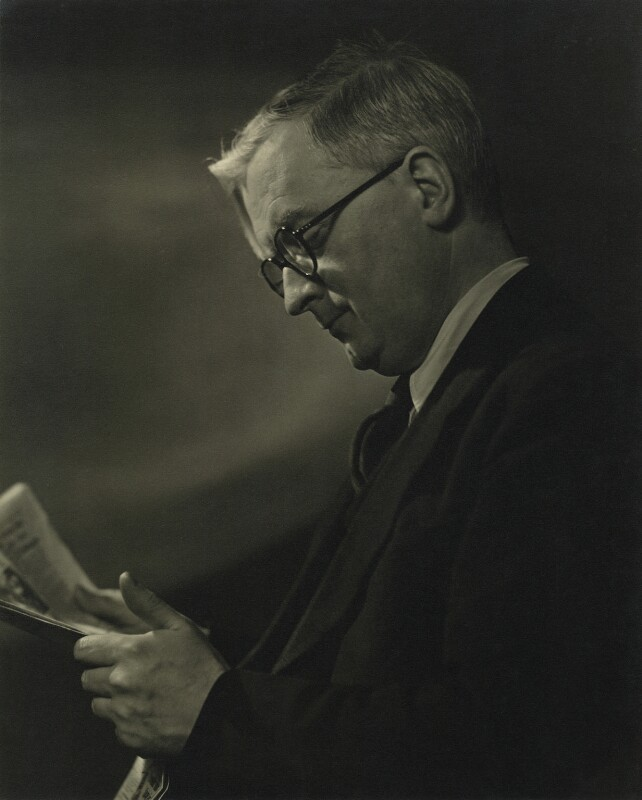 Sir Denis William Brogan, by Karl Pollak, circa 1948 - NPG x15004 - © reserved; collection National Portrait Gallery, London