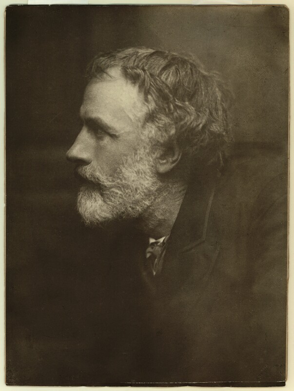 George Meredith, by Frederick Hollyer, 1886 - NPG x1502 - © National Portrait Gallery, London