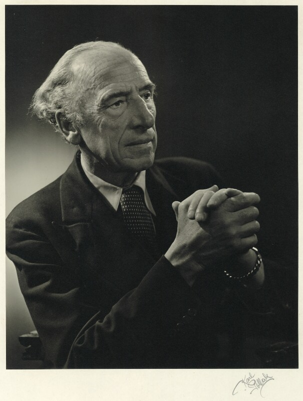 Sir (Bertram) Clough Williams-Ellis, by Karl Pollak, circa 1948 - NPG x15058 - © reserved; collection National Portrait Gallery, London
