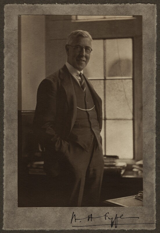 Sir William Hamilton Fyfe, by Olive Edis, circa 1931 - NPG x15089 - © National Portrait Gallery, London