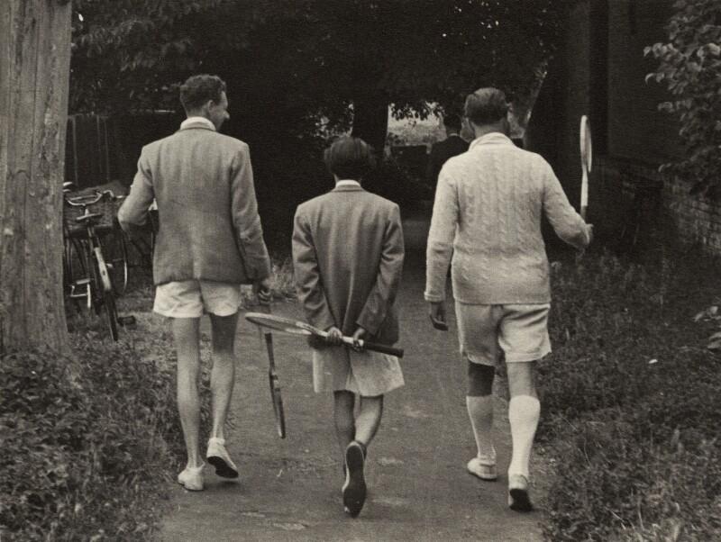 Benjamin Britten; Ronald Duncan; Peter Pears, by Kurt Hutton (Kurt Hubschman), 1950 - NPG x15221 - © reserved; collection National Portrait Gallery, London