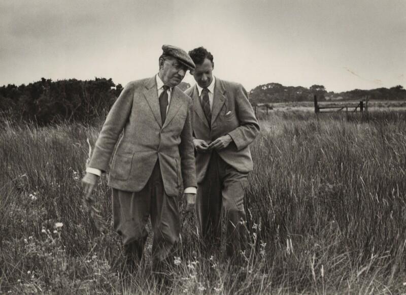E.M. Forster; Benjamin Britten, by Kurt Hutton (Kurt Hubschman), 1949 - NPG x15222 - © reserved; collection National Portrait Gallery, London