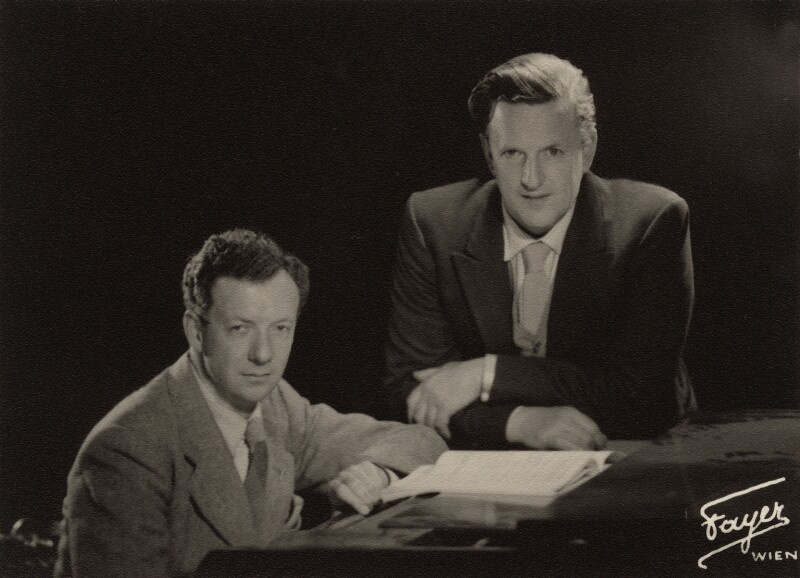 Benjamin Britten; Peter Pears, by Fayer,  - NPG x15226 - © National Portrait Gallery, London