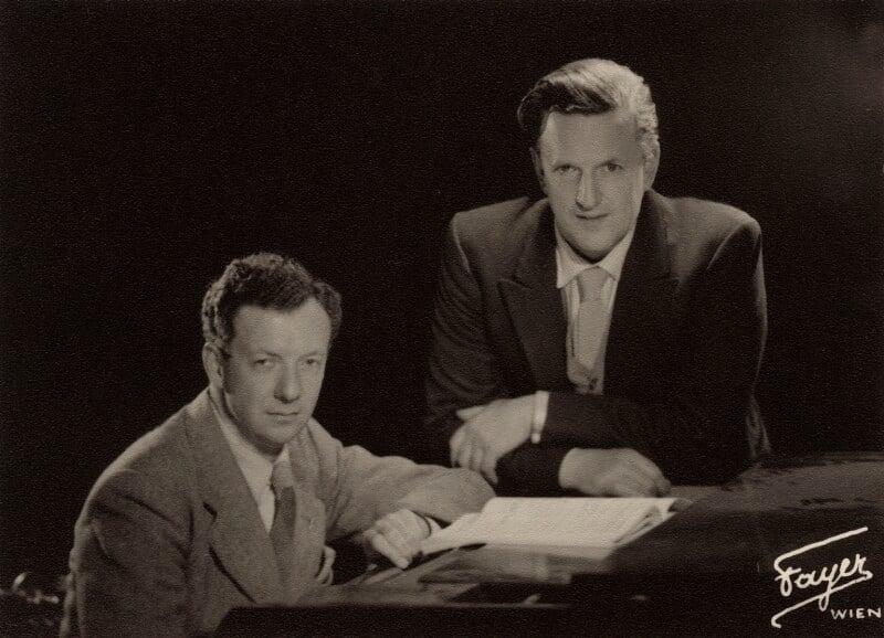 Benjamin Britten; Peter Pears, by Fayer,  - NPG x15226 - © National Portrait Gallery, London