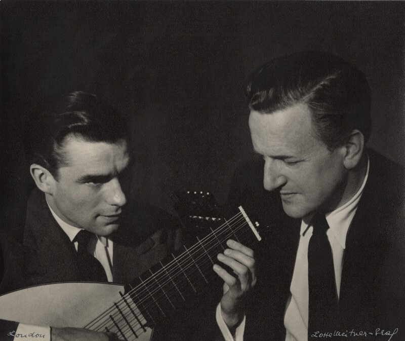 Peter Pears; Julian Bream, by Lotte Meitner-Graf, circa 1960 - NPG x15240 - © estate of Lotte Meitner-Graf
