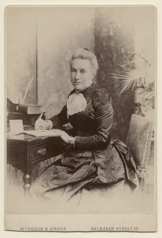Mary (née Farrer), Lady Hobhouse, by Window & Grove, 1880s - NPG x15581 - © National Portrait Gallery, London