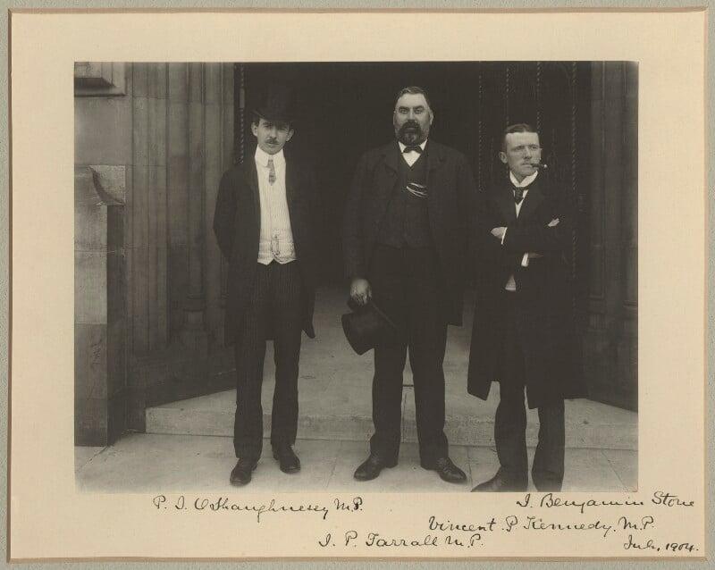 Patrick Joseph O'Shaughnessy; James Patrick Farrell; Vincent Kennedy, by Sir (John) Benjamin Stone, July 1904 - NPG x15810 - © National Portrait Gallery, London