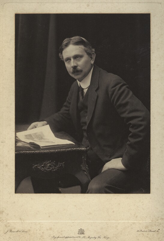 Alfred George Gardiner, by James Russell & Sons, circa 1900 - NPG x16321 - © National Portrait Gallery, London