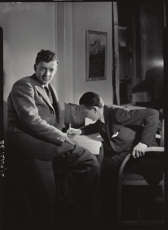 Benjamin Britten; Sir Lennox Randal Francis Berkeley, by Howard Coster, 1930s - NPG x1634 - © National Portrait Gallery, London