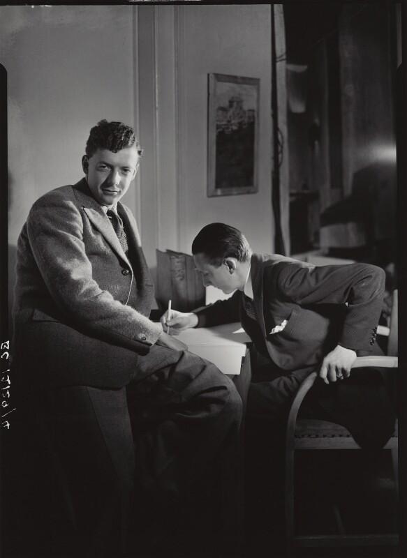 Benjamin Britten; Sir Lennox Randal Francis Berkeley, by Howard Coster, 1930s - NPG x1634 - © National Portrait Gallery, London