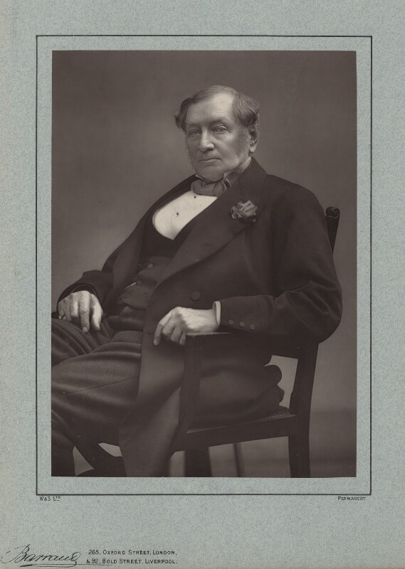 Sir Daniel Gooch, 1st Bt, by Herbert Rose Barraud, published by  Richard Bentley & Son, published 1888 - NPG x16462 - © National Portrait Gallery, London