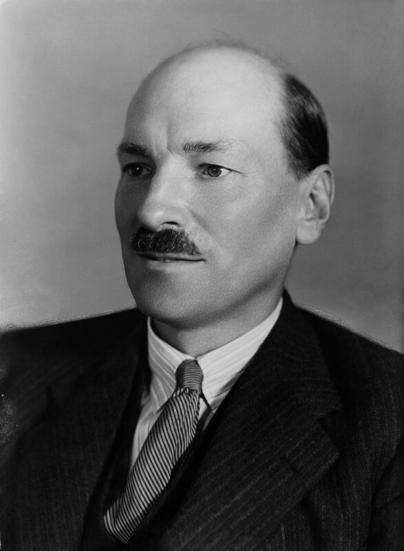 Clement Attlee, by Bassano Ltd, 13 September 1938 - NPG x16589 - © National Portrait Gallery, London