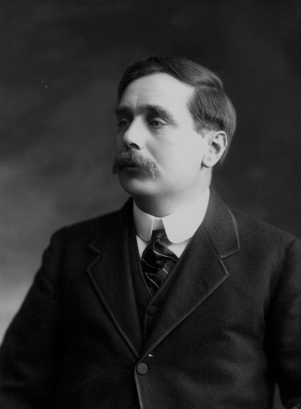H.G. Wells, by Bassano Ltd, 12 April 1911 - NPG x16750 - © National Portrait Gallery, London