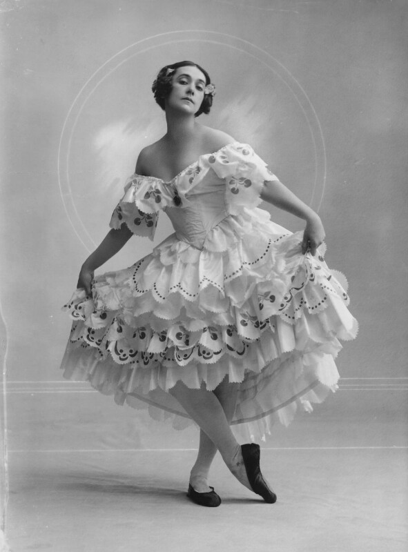 Tamara Karsavina as Columbine in 'Carnaval', by Bassano Ltd, 27 June 1919 - NPG x16768 - © National Portrait Gallery, London