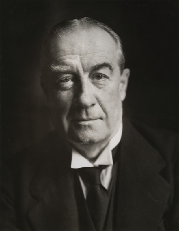 Stanley Baldwin, 1st Earl Baldwin, by Howard Coster, 1930s-1940s - NPG x1702 - © National Portrait Gallery, London