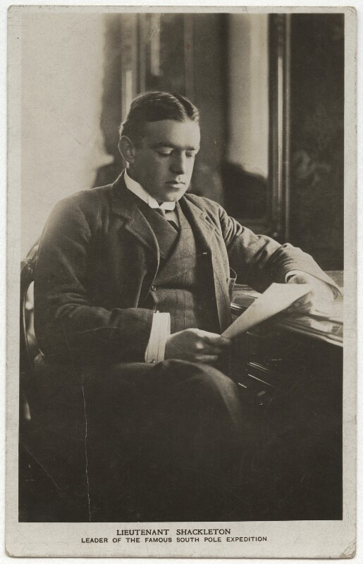 Sir Ernest Henry Shackleton, published by E.A. Farnol, 1910s - NPG x17027 - © National Portrait Gallery, London