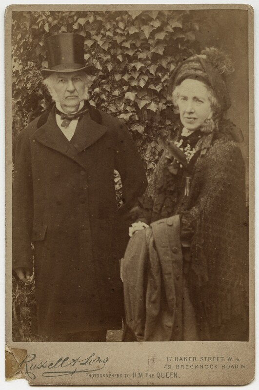 William Ewart Gladstone; Catherine Gladstone (née Glynne), by James Russell & Sons, 1880s - NPG x17038 - © National Portrait Gallery, London