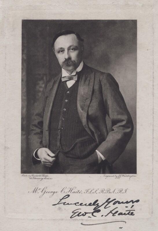 George Charles Haité, by J.J. Waddington Ltd, after  (Karl Anton) Reinhold Thiele, 1900s - NPG x17222 - © National Portrait Gallery, London