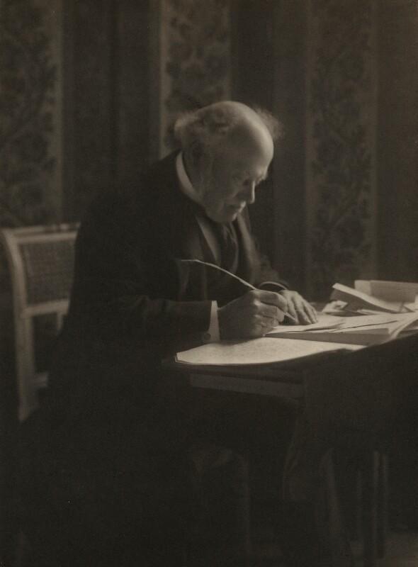 Hardinge Stanley Giffard, 1st Earl of Halsbury, by Olive Edis, 1910s - NPG x17319 - © National Portrait Gallery, London