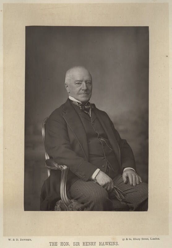 Henry Hawkins, Baron Brampton, by W. & D. Downey, published by  Cassell & Company, Ltd, published 1891 - NPG x17450 - © National Portrait Gallery, London