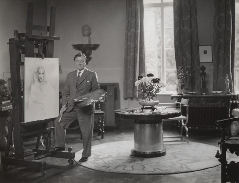 Gerald Leslie Brockhurst, by Howard Coster, 1937 - NPG x1756 - © National Portrait Gallery, London