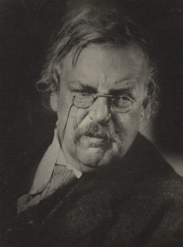 G.K. Chesterton, by Howard Coster, 1926 - NPG x1789 - © National Portrait Gallery, London
