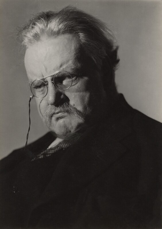 G.K. Chesterton, by Howard Coster, 1926 - NPG x1790 - © National Portrait Gallery, London